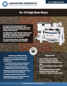 K4-K10 High Shear Mixers