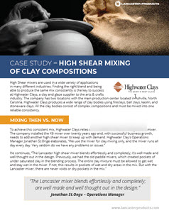 highwater clays case study