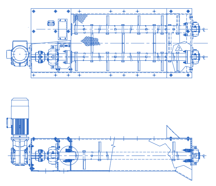 CAD drawing of Pug Mill
